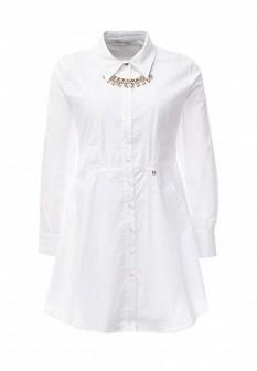 Белое итальянское осеннее платье