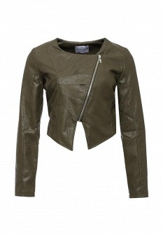 Женская итальянская осенняя кожаная куртка
