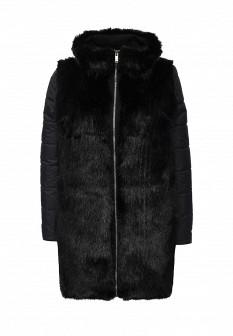 Женская черная утепленная итальянская осенняя куртка