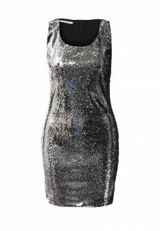 Итальянское осеннее серебряное платье