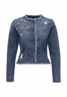 Женская синяя итальянская осенняя джинсовая куртка