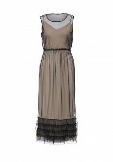 Бежевое итальянское платье Rinascimento