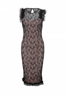 Розовое итальянское платье