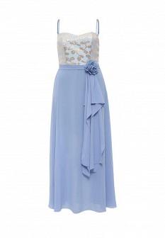 Голубое итальянское платье Rinascimento