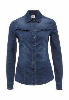 Женская синяя итальянская джинсовая рубашка