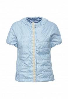 Женская голубая утепленная итальянская осенняя куртка