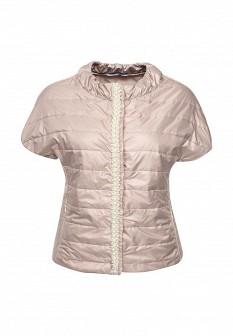Женская бежевая утепленная итальянская осенняя куртка