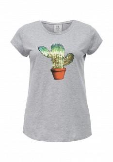 Женская серая итальянская футболка