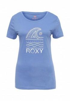 Женская голубая осенняя футболка