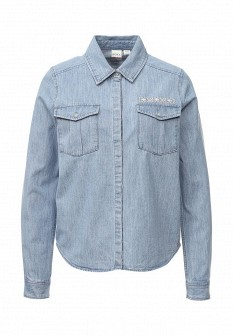 Женская осенняя джинсовая рубашка