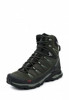 Мужские зеленые осенние ботинки из нубука
