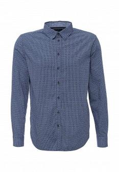 Мужская синяя осенняя рубашка