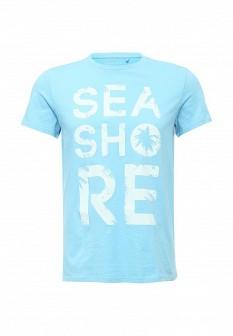Мужская голубая футболка SELA