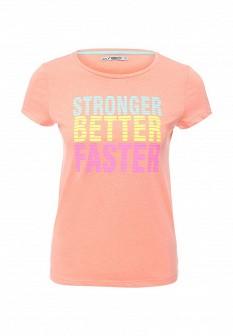 Женская коралловая футболка SELA