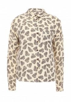 Бежевая осенняя блузка SELA