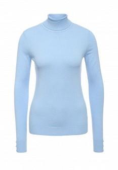 Женская голубая осенняя водолазка