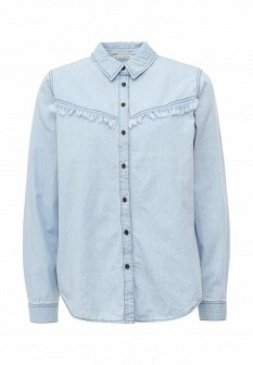 Женская голубая джинсовая рубашка