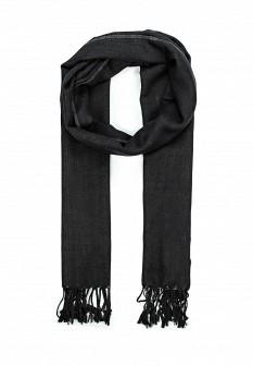 Мужской черный осенний шарф