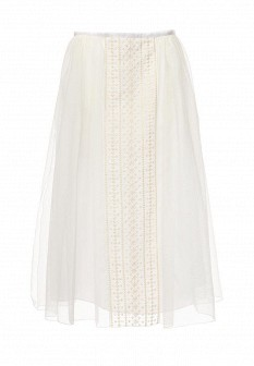 Белая осенняя юбка See by Chloe