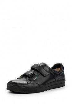 Мужские черные осенние кожаные кеды