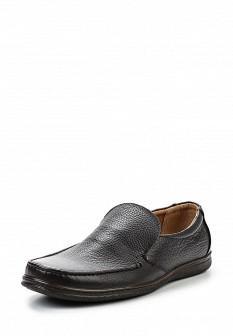 Мужские коричневые кожаные туфли лоферы