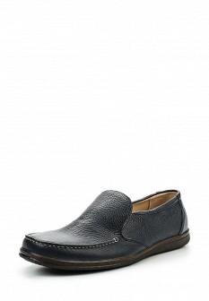 Мужские синие кожаные туфли лоферы