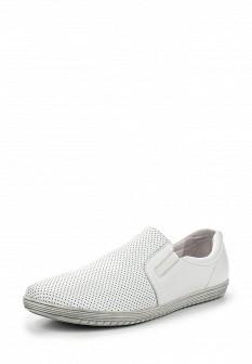 Мужские белые кожаные туфли лоферы