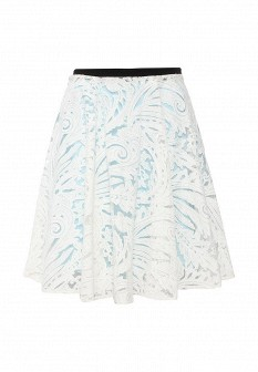 Белая осенняя юбка Silvian Heach