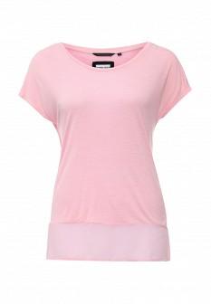 Женская розовая осенняя футболка