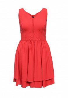 Красное осеннее платье Silvian Heach