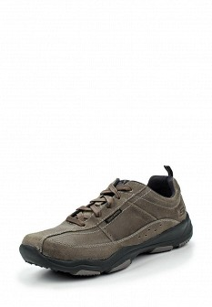 Мужские серые осенние кожаные кроссовки