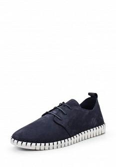 Мужские синие ботинки из нубука