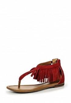 Женские бордовые сандалии с высоким голенищем