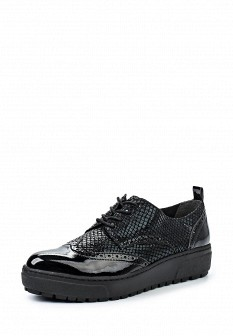 Женские черные кожаные ботинки на каблуке на платформе
