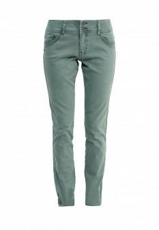 Женские зеленые осенние брюки