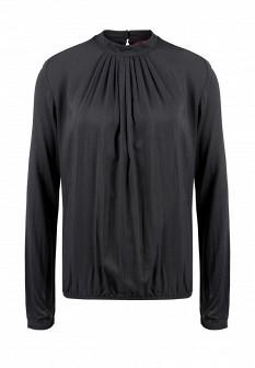 Черная осенняя блузка S.OLIVER