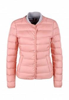 Женская розовая утепленная осенняя куртка