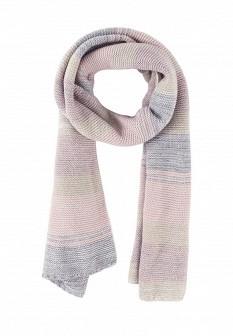 Женский розовый осенний шарф