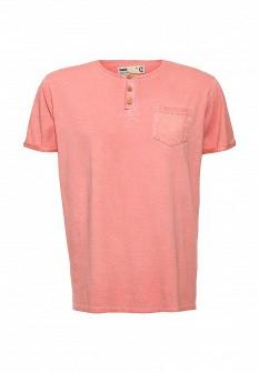 Мужская осенняя коралловая футболка