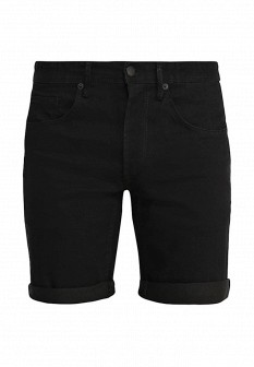 Мужские черные осенние джинсовые шорты