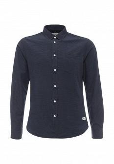 Мужская синяя рубашка Solid