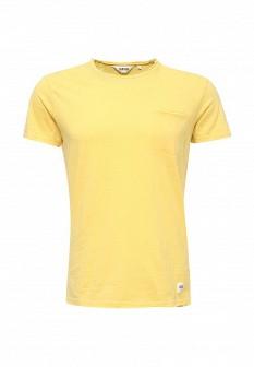 Мужская желтая футболка Solid