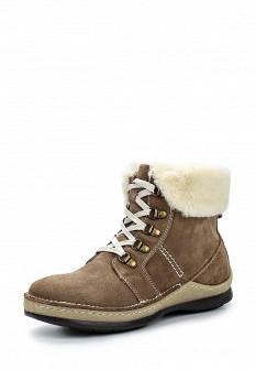 Женские коричневые осенние ботинки