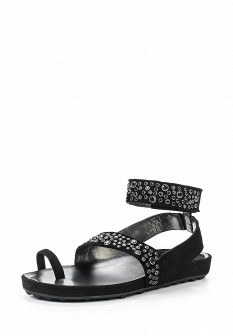 Женские черные испанские сандалии