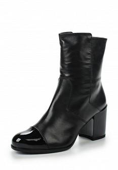 Женские испанские осенние лаковые сапоги на каблуке