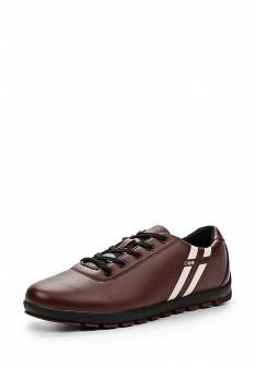 Мужские бордовые осенние кожаные кроссовки