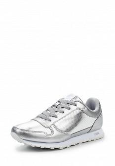 Женские осенние серебряные кроссовки