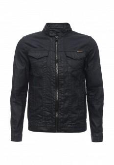 Мужская синяя осенняя джинсовая куртка