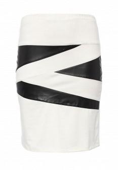Белая осенняя юбка SVESTA