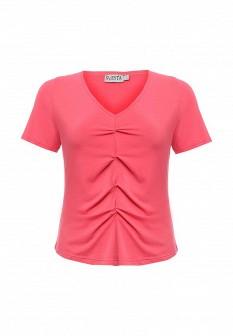 Женская коралловая футболка